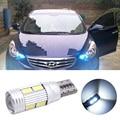 2 pcs led T10 w5w 194 168 canbus car Light Bulb com lente do projetor para hyundai i30 ix35 sonata tucson elantra getz accent solaris