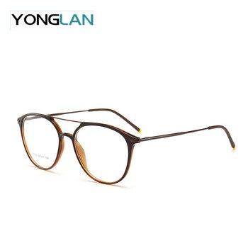Большие размеры, итальянский дизайн, мужские Оптические очки, оправа TR90, пластик, титан, двойной нос, миопия, прозрачные линзы, очки Gafas