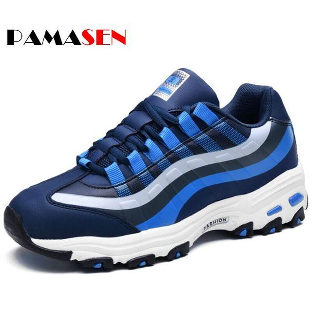 2017 Unisex Design Aumento de la Altura Zapatos de Los Hombres Zapatos Casuales de La Moda de Primavera 3D Con Cordones de Los Hombres de los Pares Zapatos de Los Planos zapatillas hombre