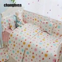Sun Design Baby Girl Bedroom Newborn Baby Crib Bedding Set For Girls Infant Cot Nursery Bedding