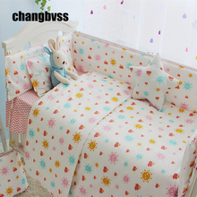 Sun Design Baby Girl Bedroom Newborn Baby Crib Bedding Set For Girls, Infant Cot Nursery Bedding Quilt Bumper Mattress For Crib