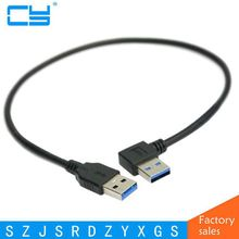 90 Degree Right Angled USB 3.0 USB3.0 A Type Male to Straight A Type Male Data Cable 40cm