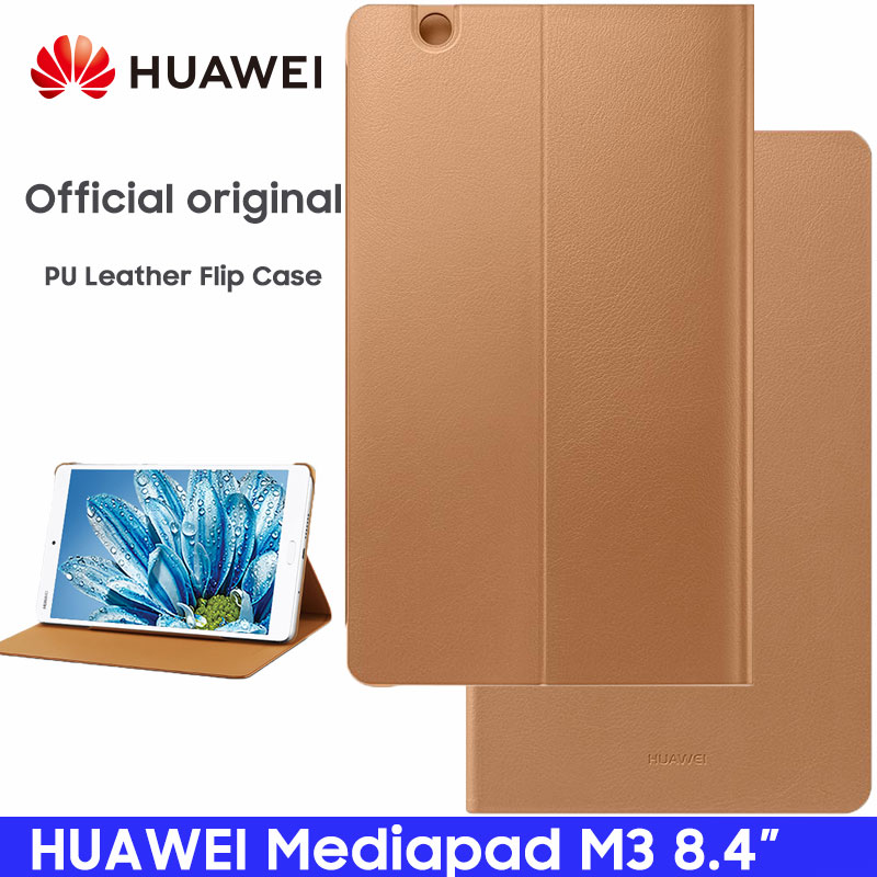 Huawei Mediapad M3 Official Smart View Kickstand Flip Leather Case Function Stand