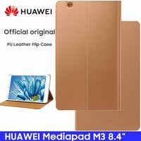 Huawei Mediapad M3 étui Original officiel Smart View HUAWEI M3 étui béquille Flip étui en cuir fonction support tablette couverture 8.4