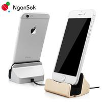 4 Colors Silver Blue Rose Gold Charger Dock Stand Station Cradle Charging Sync Dock For Apple