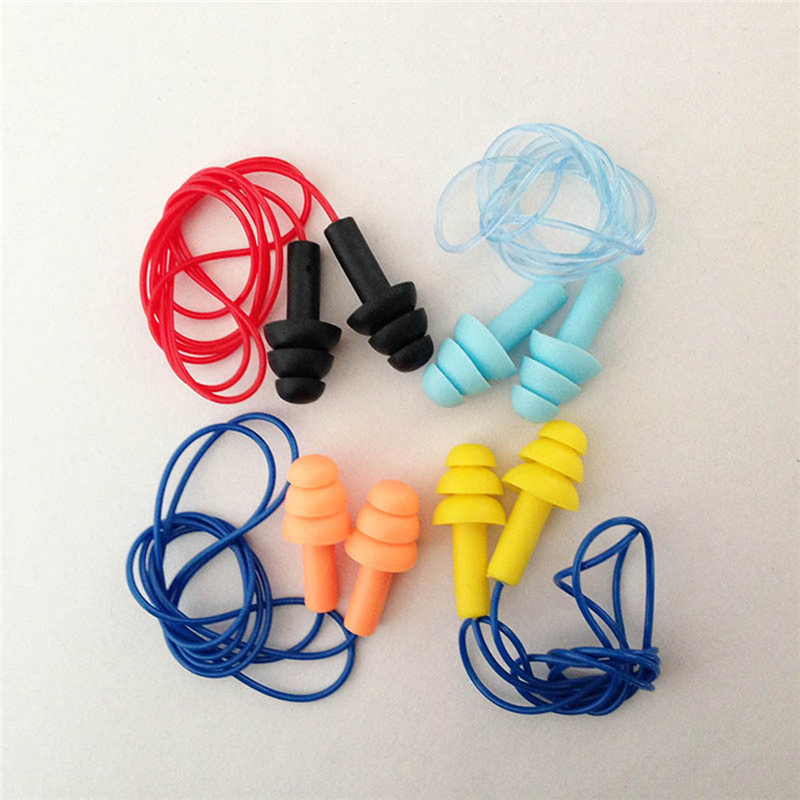 Noise Reduction Waterproof Soft Silicone Earplugs Travel Sleep Anti-noise Earplugs Swimming Earplugs Earmuffs