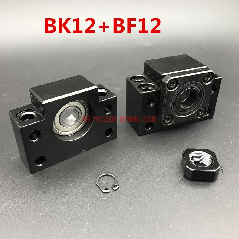 2019 Sale Linear Rail AXK Cnc Router Parts Bk12 Bf12 Bearing Kit : 10 Pcs Of And For Sfu1605 Ball Screw End Support Cnc Parts