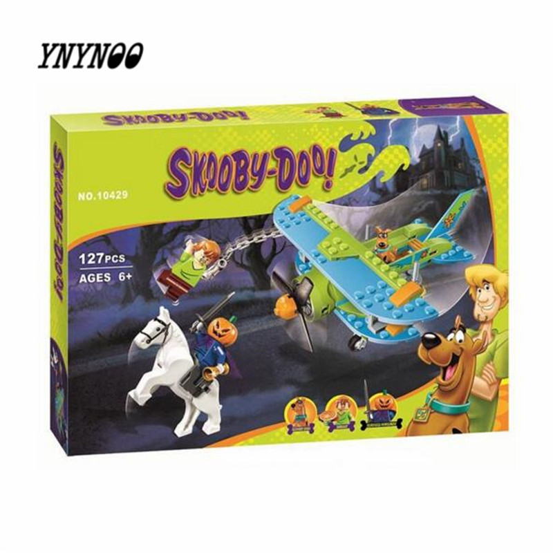 YNYNOO Bela 10429 Scooby Doo Mummy Museum Mysterious Plane Mini Building Block figure Toys P031 ynynoo 305pcs 10430 the mystery machine scooby doo fred shaggy zombie zeke toys building blocks christmas gift sa562