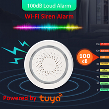 100DB Sound Wireless WiFi Tuya Alarm Siren Sensor Smart Life Home Security Systems Alexa Google IFTTT