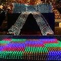 Светодиодные чистые огни строки 1.5x1.5 М 96led для Свадьбы украшение Праздника Xmas света 6-10 Вт ЕС plug качество 220В LH