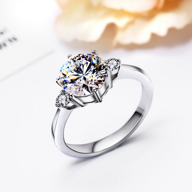 Wedding Rings For Women Engagement Aaa Luxury Cubic Zirconia Jewelry Accessories Cz Stone Fashion Elegant Hand