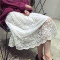 Mulher Saias 2016 nova queda e roupas de inverno nova moda saia de renda