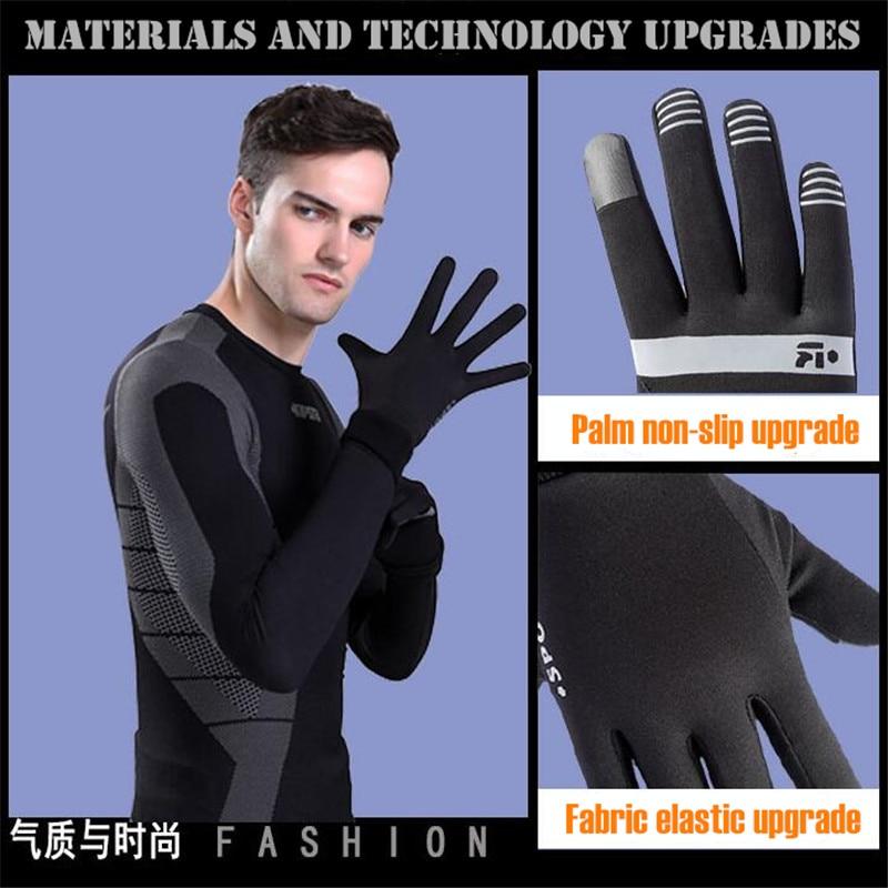 Для мужчин и Для женщин зимние теплые легкие 2-палец Сенсорный экран перчатки, эластичный быстрый сухой, открытый Спорт магия ездить Лыжный ...
