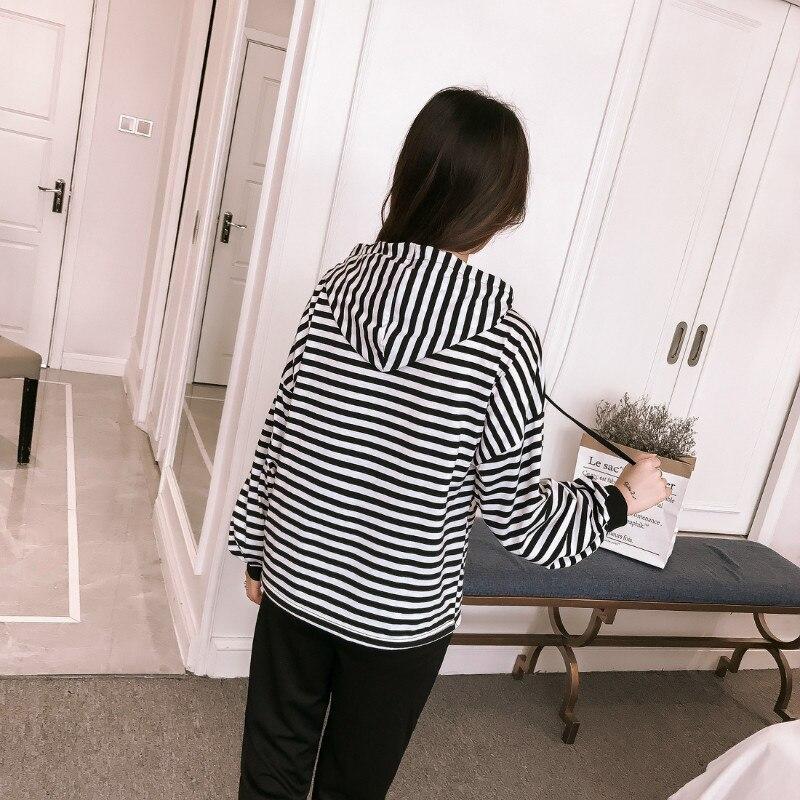 Autumn Korean stripe Woman's sets plus size hoodies sweatshirt+casual pencil pants feet student 2 two-piece set tracksuit women 2