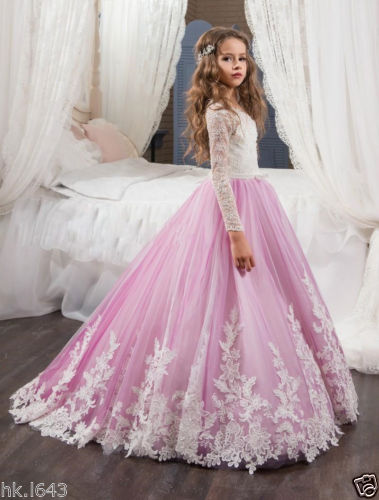 Girl Birthday Party Prom Princess Pageant Bridesmaid Wedding Flower Girl Dresses Dress For Girl 15 color infant girl dress baby girl pageant dress girl party dresses flower girl dresses girl prom dress 1t 6t g081 4