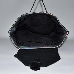 Image 5 - Mochila De mujer de moda, con cordón ajustable mochilas femeninas geométricas para chicas adolescentes Bagpack holográfica damas bao bolso escolar Sac