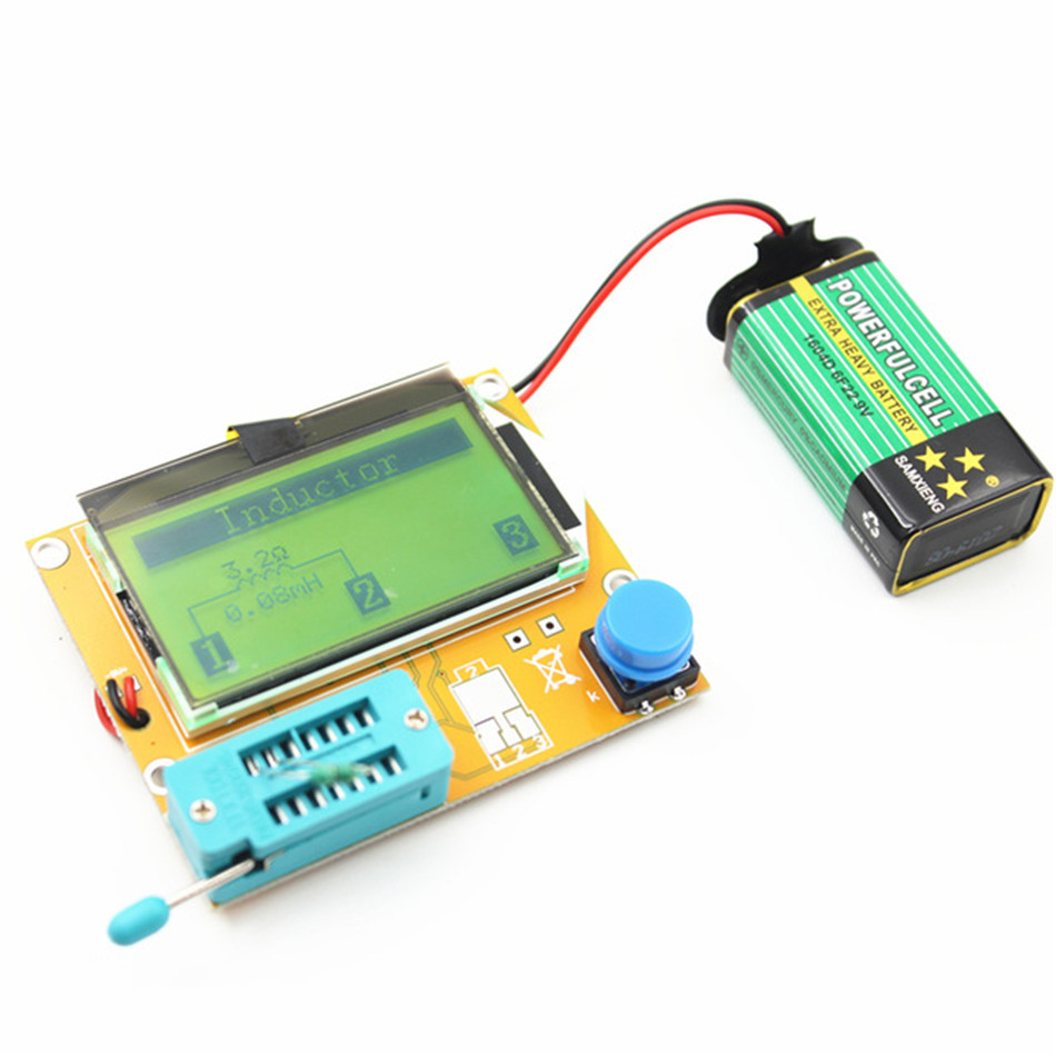 Mega328 M328 LCR-T4 12846 LCD Digital Transistor Tester Meter Backlight Diode Triode Capacitance ESR Meter MOS/PNP/NPN L/C/R mega328 transistor tester diode triode capacitance esr meter mos pnp npn l c r transistor tester box well working free shipping