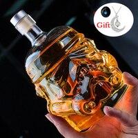 650 мл Звездные войны белый солдат стекло кувшин Штурмовик Дух Бутылка полый кристалл стеклянная бутылка для вина чашки прибор для домашнего...