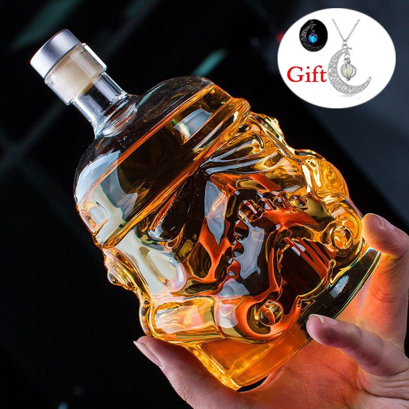 650 ml Star Wars Weiß Soldat Glas Krug Storm Trooper Geist flasche Leere Kristall Wein Glas Flasche Glas Tasse Hause bar Werkzeuge