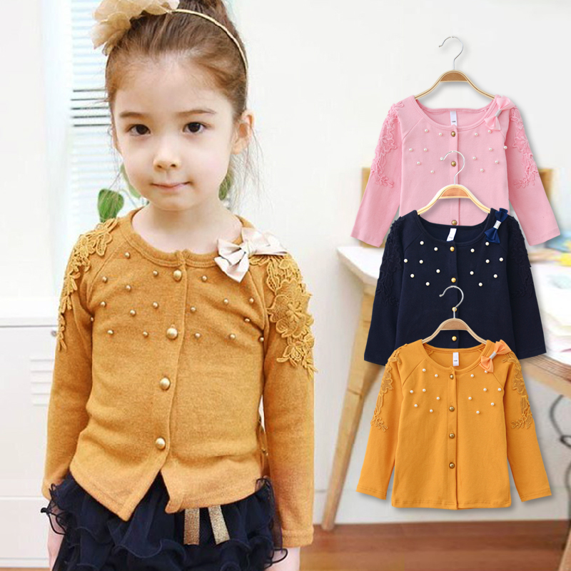 O-Neck Children Clothes Baby-Girl Cardigan Cotton for Outerwear Good-Quality