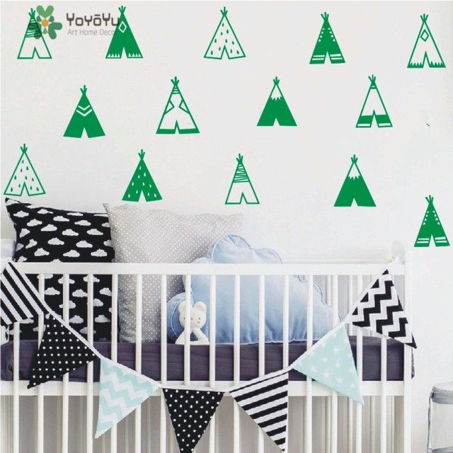 Hot Tribal Teepee Wall Decal 10 Style Art Vinyl Decoration For Kids Room  DIY Removable Nursery