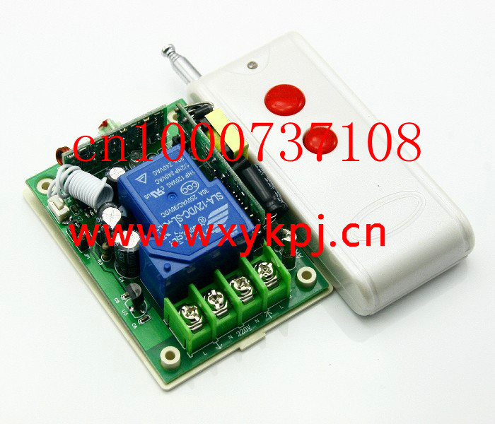 High power85V- 250V 30A 3000W RF Wireless Remote Control Switch System For Smart/Intelligent Home light/LED 2 working ways rf wireless intelligent