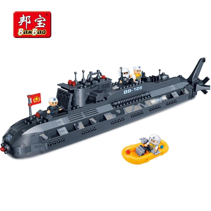 BanBao Military Submarine Warships U-boat Building Blocks Educational Toy Model 6201 Children Kids Bricks Compatible With legoe часы other u boat flightdeck 33