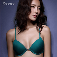 Ensence Luxury Beauty Back Bralette Push Up Bras For Women Glossy Seamless Deep V Sexy Small