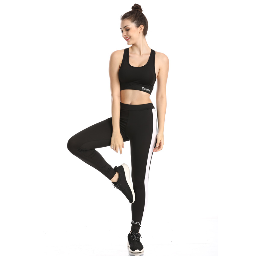 New Yoga Suit Set Women Gym Clothing Tracksuit Cross Tops Female Fitness Pants Leggins Slim Sport Running Sportswear in Yoga Sets from Sports Entertainment