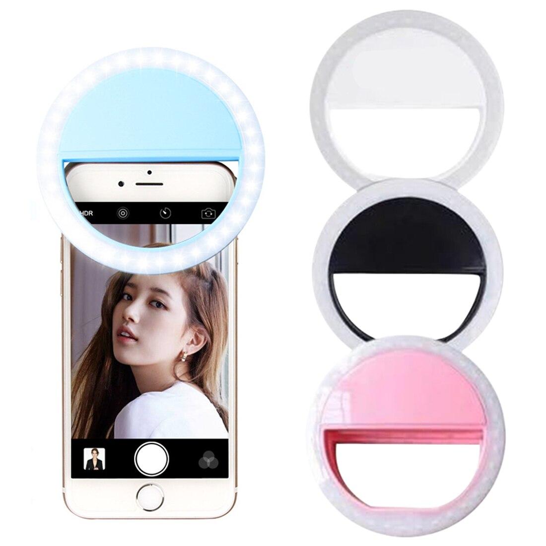 Mobile Phone Fill Light Portable Selfie Ring Flash Led Light Lamp External Photography Round Self-timer Lamp Photo LED Flash