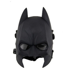 Tactical Sports Safety Helmets Latex Batman mask Costume for Halloween Deluxe Party masks Half face Masquerade Party mask