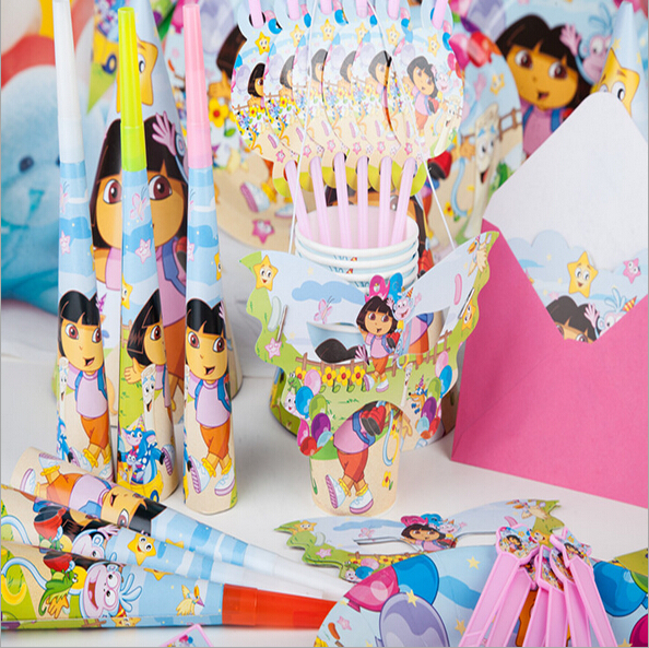 Carton Figure Dora theme Boy Girl Birthday Party Festival Decoration