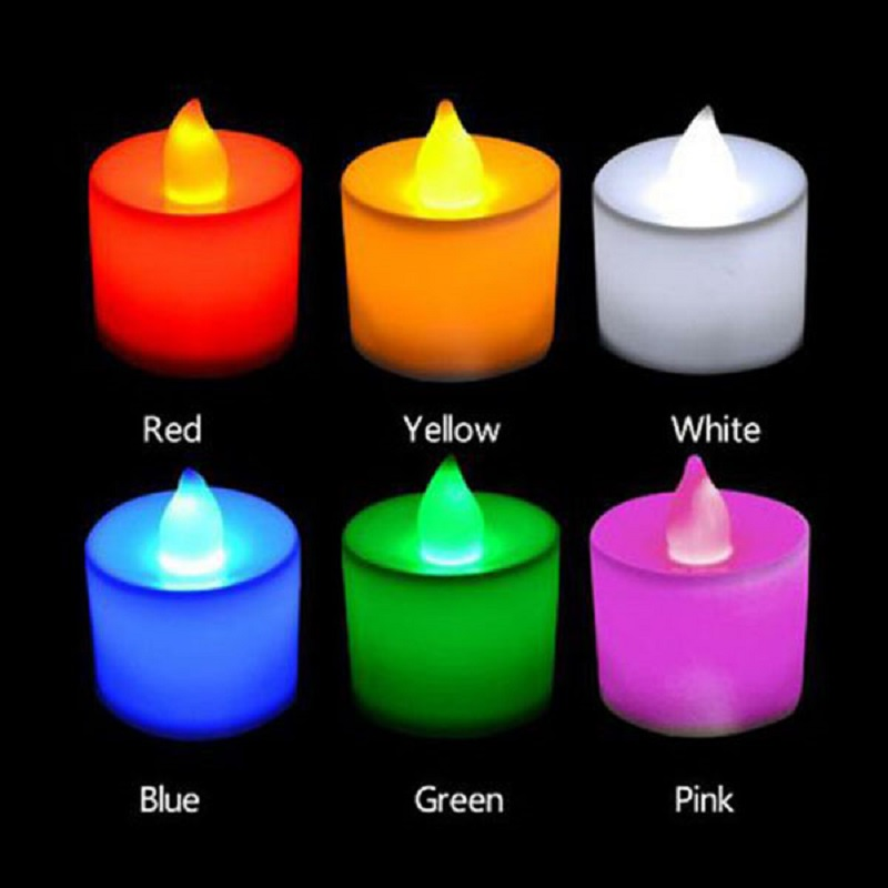 Hot LED Night Light Flameless Electric Candle Battery Operated Party Wedding Flickering Tealight Decor DIY