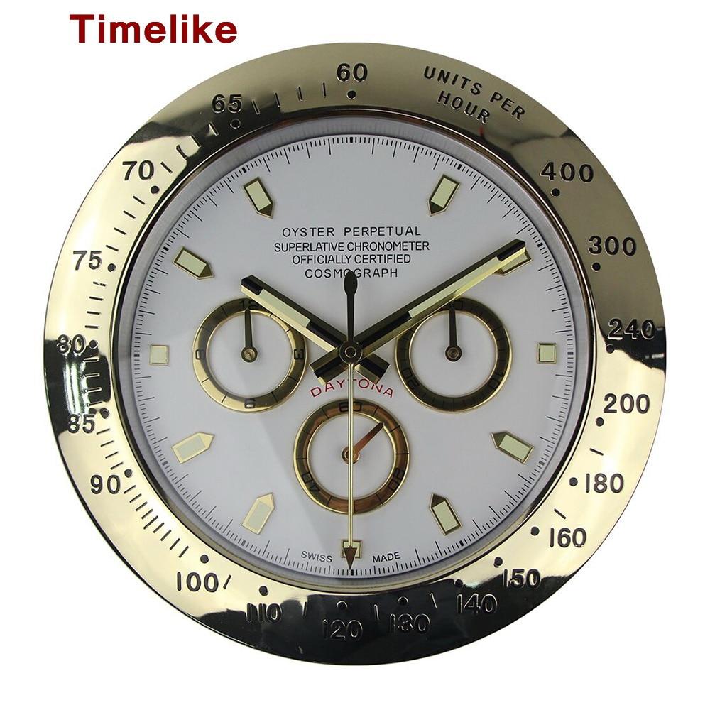 1Piece Luxury Metal Watch Shape Wall Clocks with Silent ...