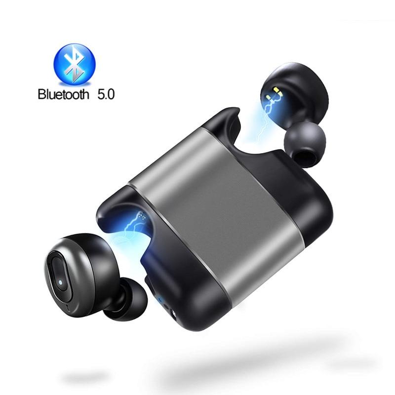 Mini Auricolari Bluetooth Super Bass Suono V5.0 TWS Auricolari Senza Fili di Sport a Mani Libere Cuffie Per Samsung iPhone Xiaomi