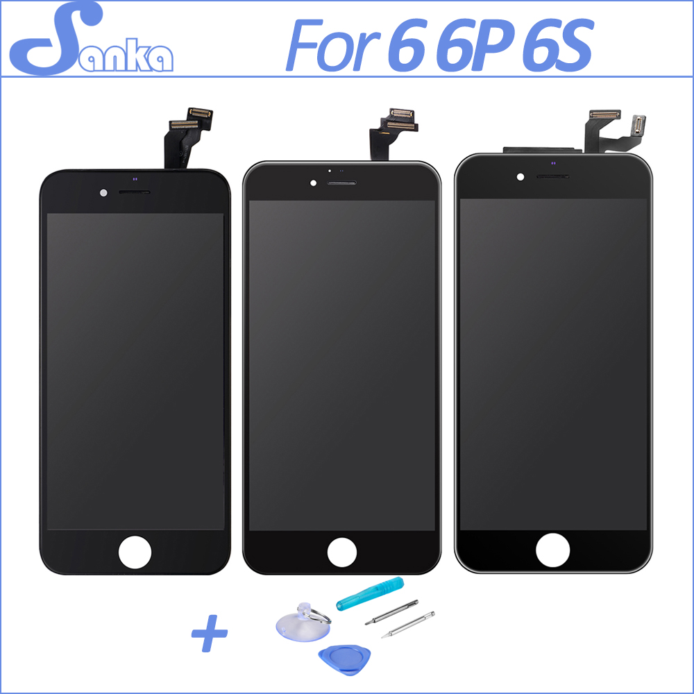 Grade AAA For iPhone 6 6S Plus LCD Display With 3D Touch Screen Digitizer Replacement Assembly No Dead Pixel Black White & Tools