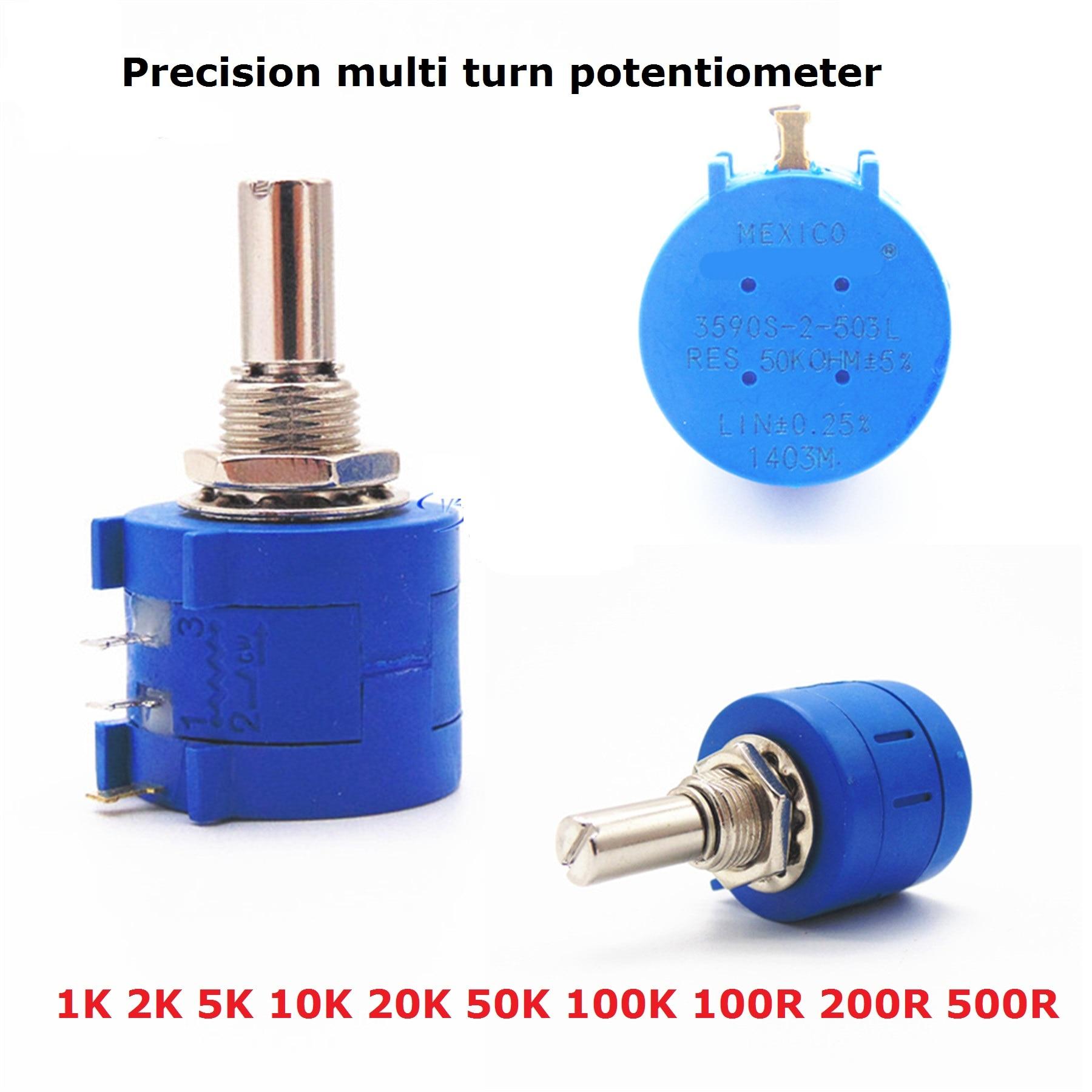 1PC Precision Multi Turn Potentiometer 3590S-2-103 101 503 104 201 501 102 202 502 203 100R 200R 500R 1K 2K 5K 10K 20K 50K 100K