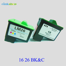 цена на For Lexmark 16 26 Ink Cartridge For Lexmark Z13 Z23 Z35 Z515 Z600 Z615 X1100 X1150 X1270 Z25 Z33 z617 Z513 Z603 Z605 Z611 Z645