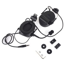 Wadsn-auriculares tácticos Comtac II con rieles de arco para casco, auriculares de montaje, reducción y amplificación de ruido para cascos rápidos