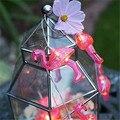 1X Flamingo luzes Festa de Casamento luz da corda 10LED Luzes do Quarto quarto Menina decoração Corda Lanterna Luz da bateria AA Operado