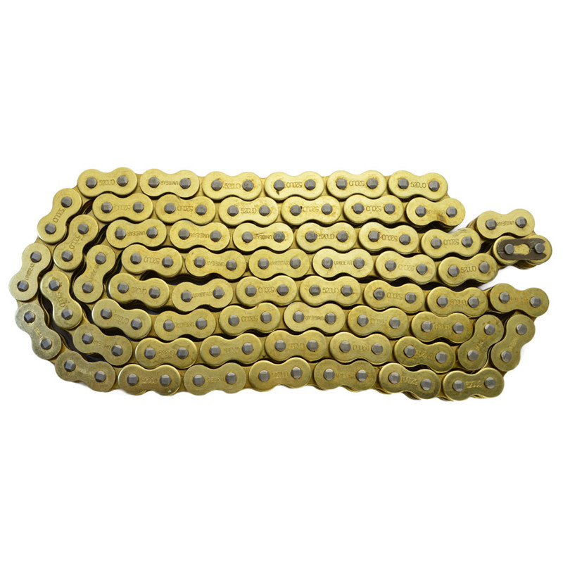 Motorcycle Parts 530 * 120 Drive Chain 530 Pitch Heavy Duty Gold O-Ring Chain 120 Links For SUZUKI GSF1200S Bandit 2006 530 120 brand new unibear motorcycle drive chain 530 gold o ring chain 120 links for cagiva ala azzurra 650 drive belts