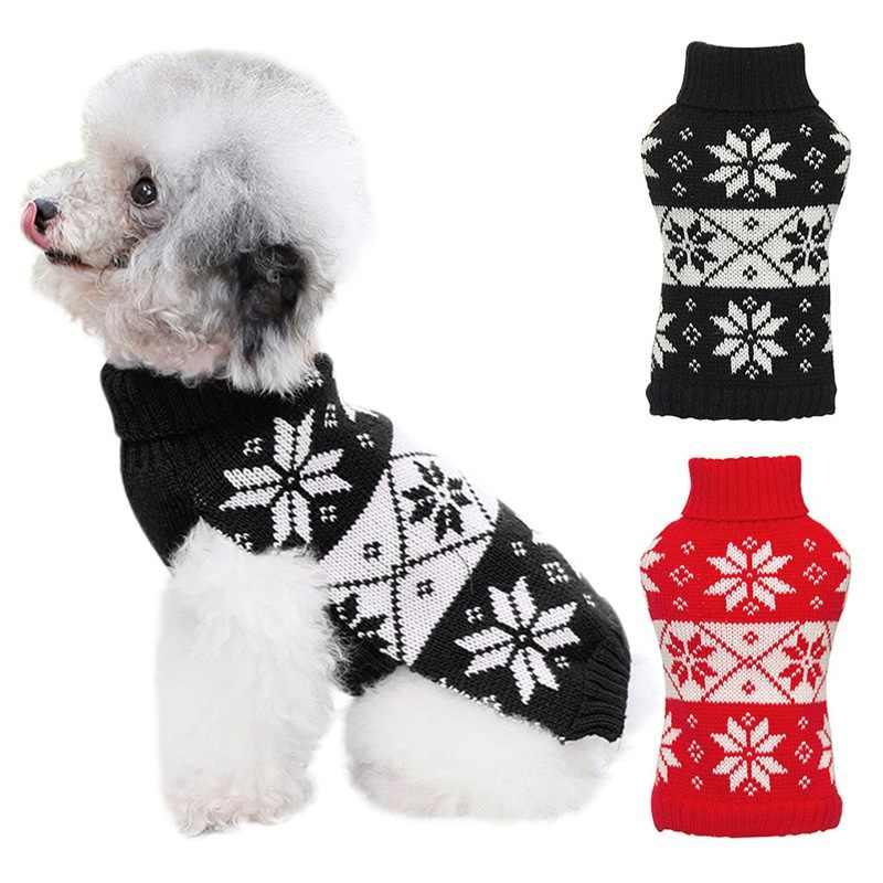 Yıl Pet Köpek Kedi Kazak Örgü Tığ Elbise Kış sıcak Köpek Yavru Ceket Ceket Küçük Köpek Kazak Evcil Hayvan Giyim