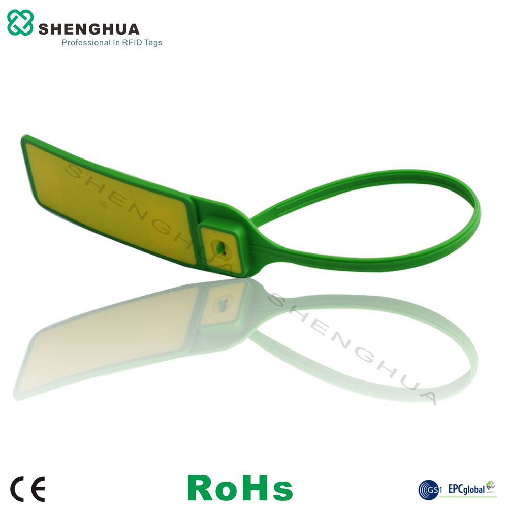 10pcs/pack UHF RFID Lock Seal Long Zip Tie Cable Tag Passive RFID Sticker Barcode Printable For Security Container Tracking