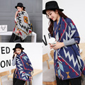New luxury Brand Color matching cashmere Poncho winter tassel thicker warm shawls wrap double side cape Echarpes Blanket Ladies