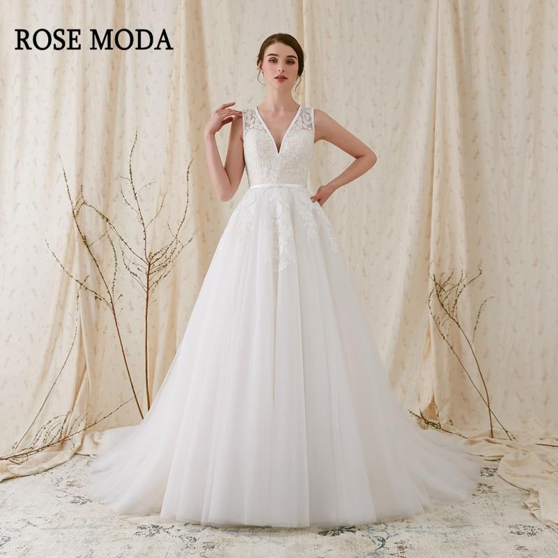 Robe de mariée en dentelle Rose Moda | Col