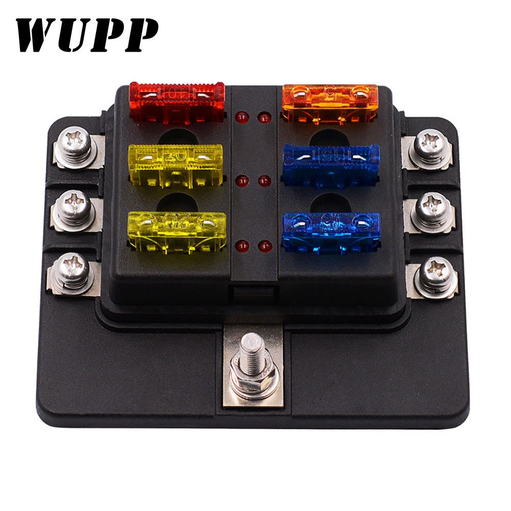 L.E.D Fuse Boxes 4 Way 6 Way 10 Way LED 12v 24v Blade Fuse Box Fuse Holder