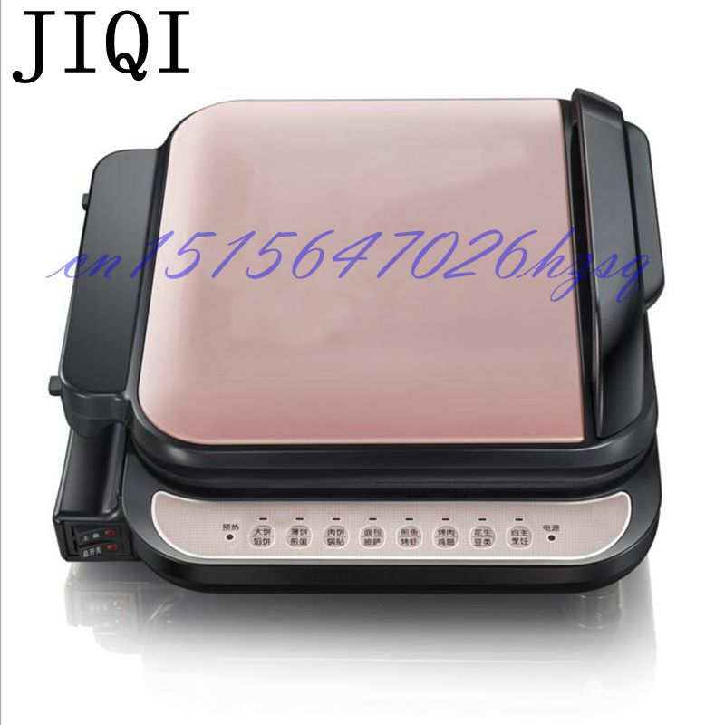 JIQI 1300W Household  Electric Skillet Multi functionbaking double pan heating machine Pancake makers Hover jiqi electric baking pan double side heating household cake machine flapjack pizza barbecue frying grilling plate large1200w