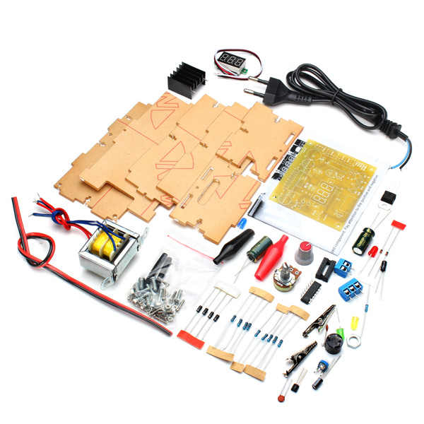 ЕС Plug 220 В DIY LM317 Регулируемый Напряжение Питание модуль комплект с случае