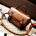 Subergar 2016 Vintage Satchel Women Messenger Bags Retro Women Briefcase Crossbody Top Quality Women Leather Handbags Women Bag