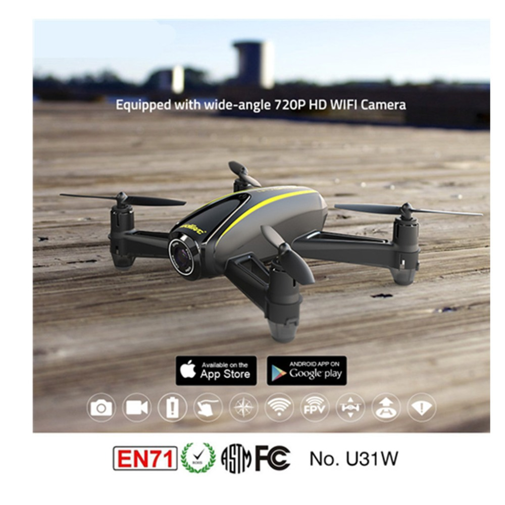 Child drone with HD camera (1280 x 720P) U31W Quadcopter with Altitude Hold Headless Mode jjr c jjrc h43wh h43 selfie elfie wifi fpv with hd camera altitude hold headless mode foldable arm rc quadcopter drone h37 mini